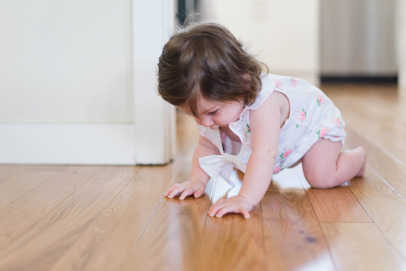 a toddler crawling
